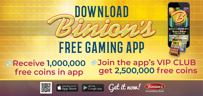 Binion's Billions Mobile App