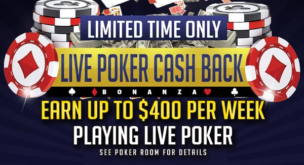 Binion's Hall of Fame Poker Room Cash Back Promotion